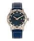 M71 steel & blue leather watch Sale - morphic Sale