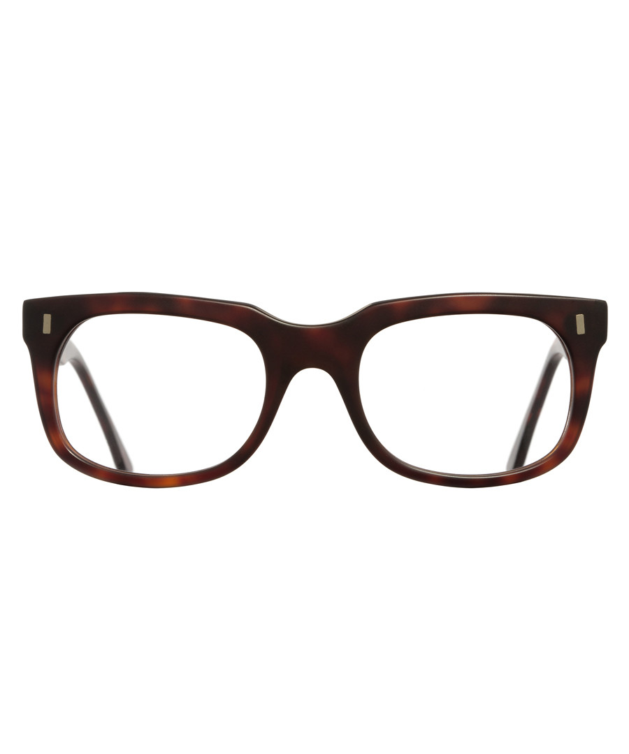 Dark Havana squared clear glasses Sale - cutler and gross