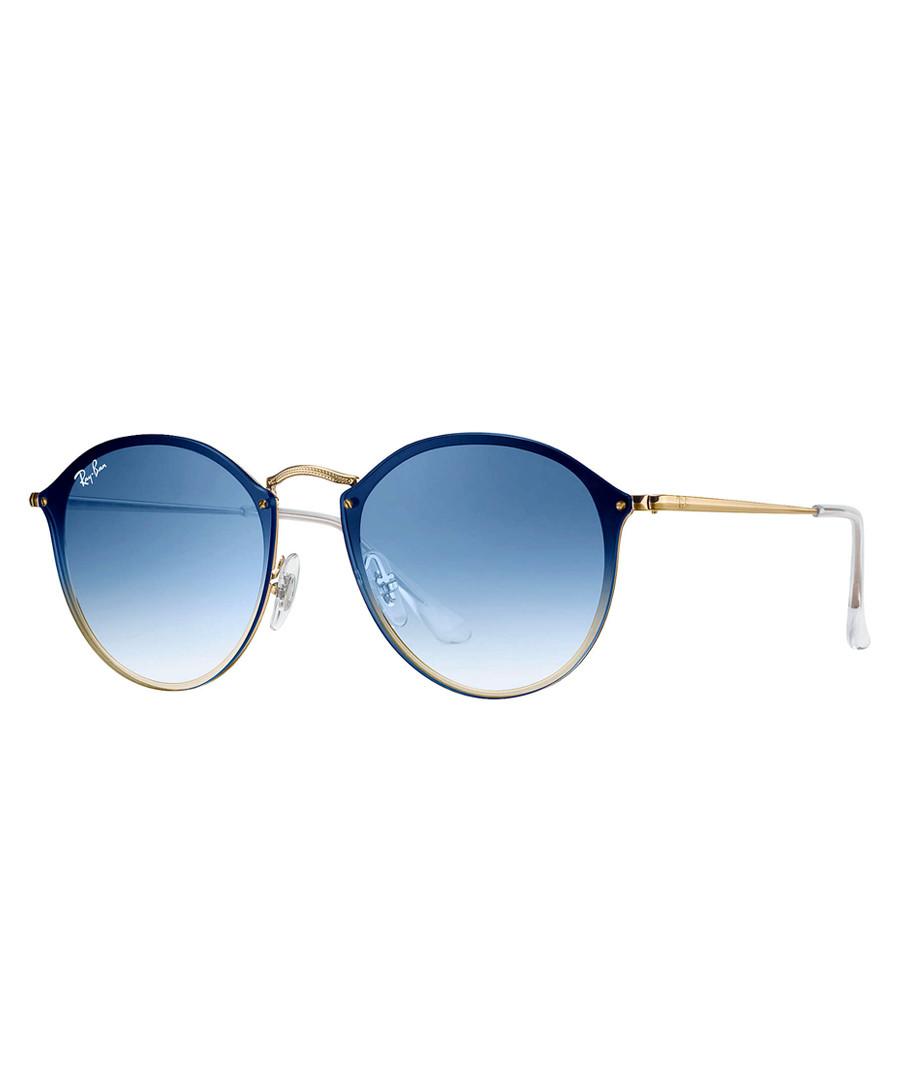 Gold-tone & blue gradient sunglasses Sale - Ray Ban