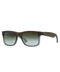 Wayfarer brown gradient sunglasses