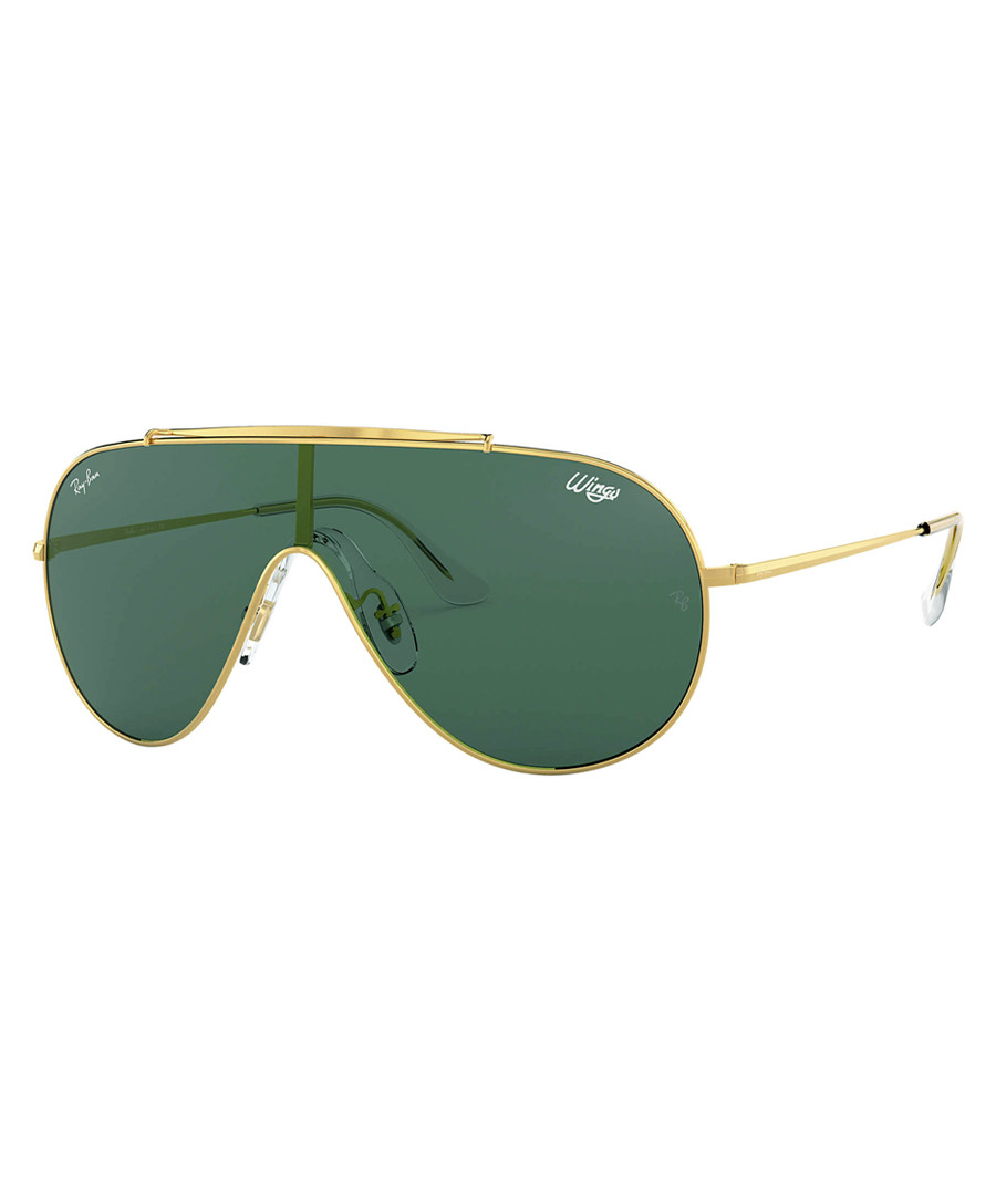 Gold-tone & green one-lens sunglasses Sale - Ray Ban