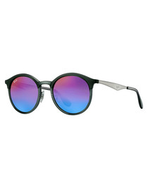 Wayfarer black & multi-mirror sunglasses