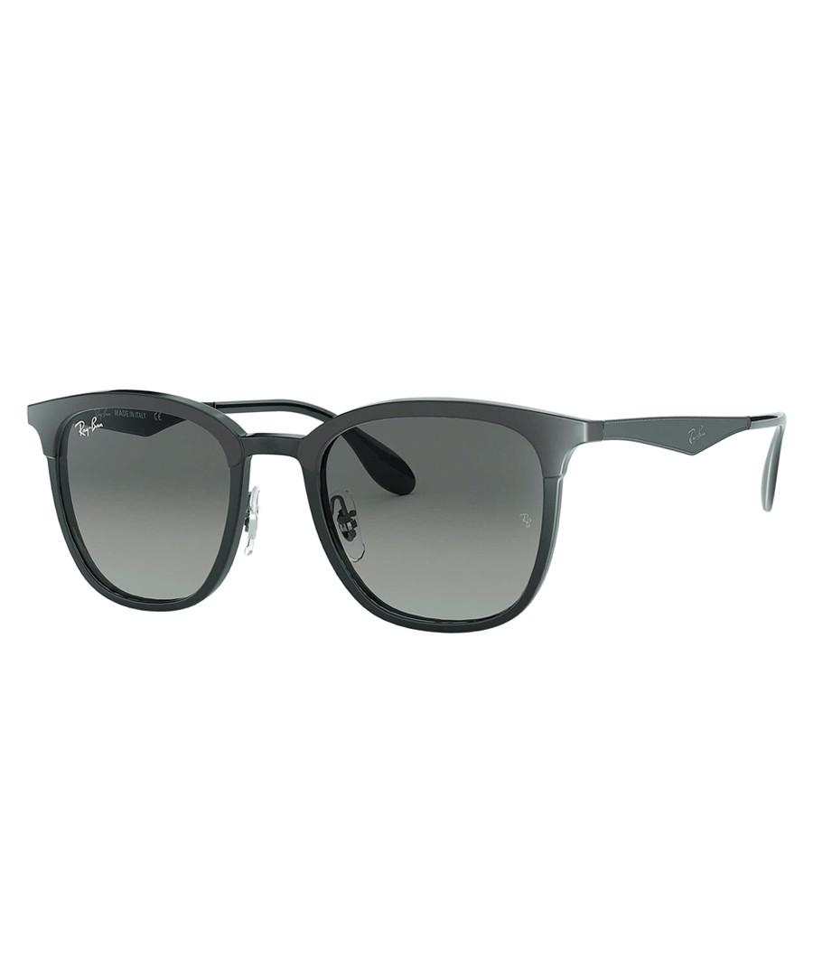 Wayfarer black & grey sunglasses Sale - ray-ban
