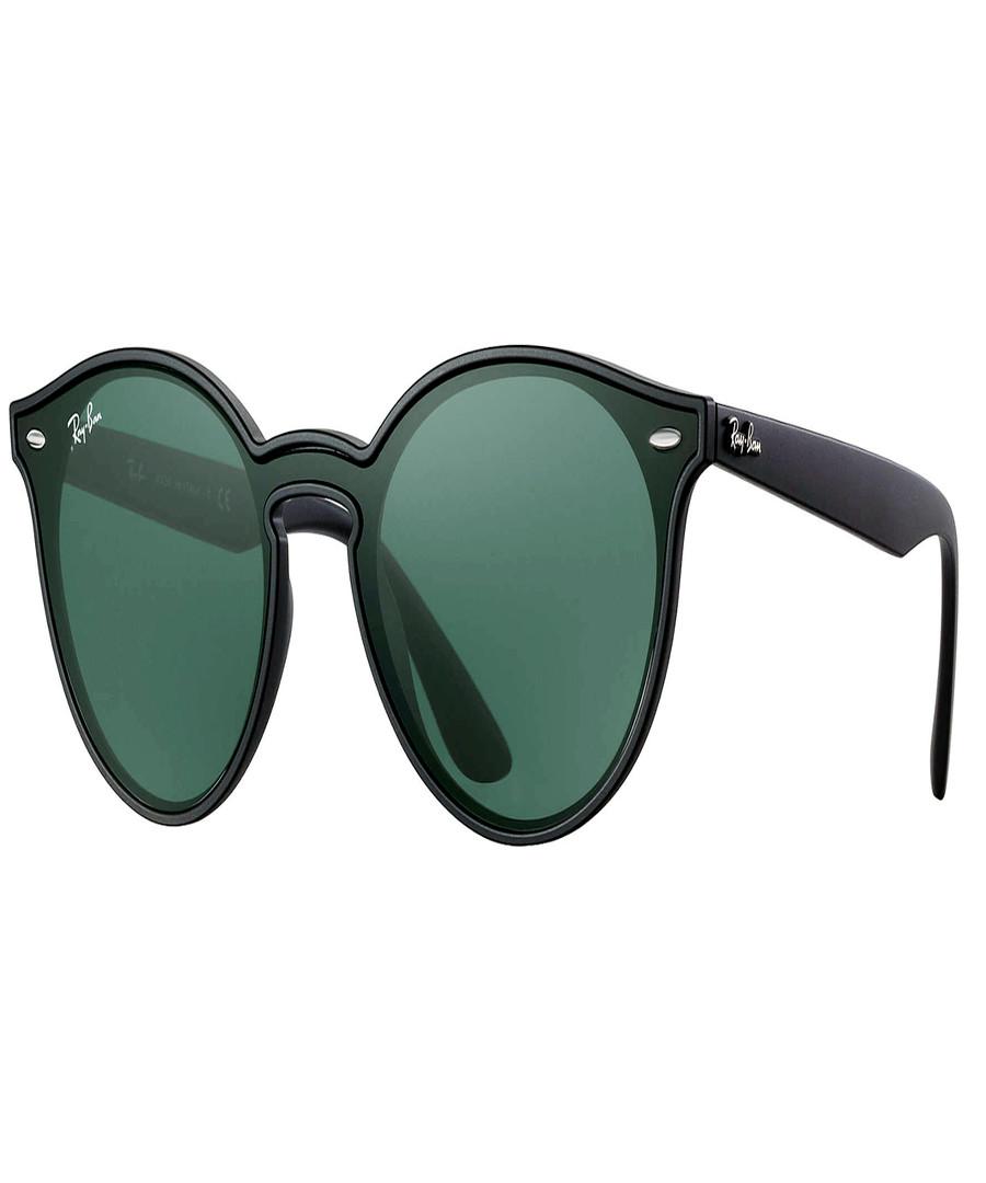 Matte black & green sunglasses Sale - ray-ban