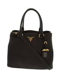 Vitello Phenix black leather bag