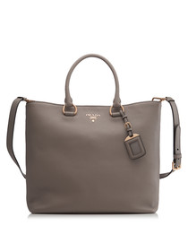 Vitello Phenix clay leather shopper