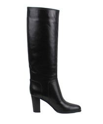 Nappa black leather boots