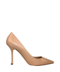 Speciale blush leather court heels