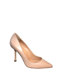 Nappa blush leather court heels