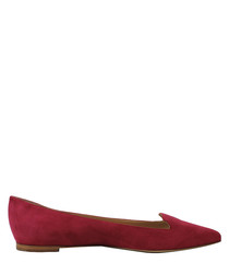 Royal cherry suede ballet flats