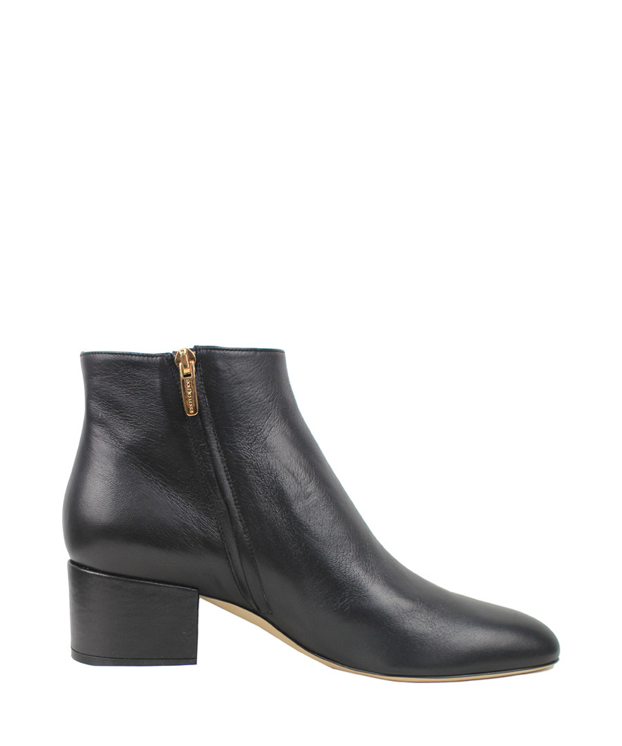 Nappa black leather ankle boots Sale - sergio rossi