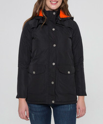 Black lighweight button coat