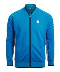 Men's blue zip-up jacket