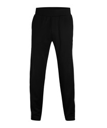 Black side-stripe trousers