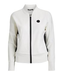 Off-white zip-up jacket