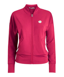 Raspberry pink zip-up jacket