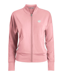Candy pink zip-up jacket