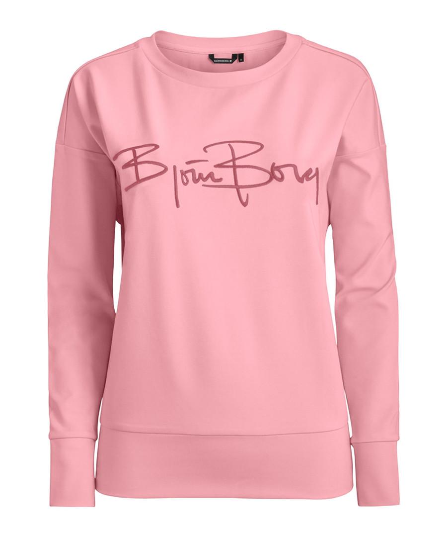 Candy pink logo sweatshirt Sale - Bjorn Borg