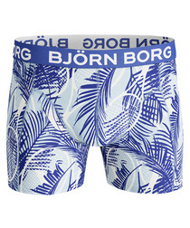Men's crystal blue print boxers