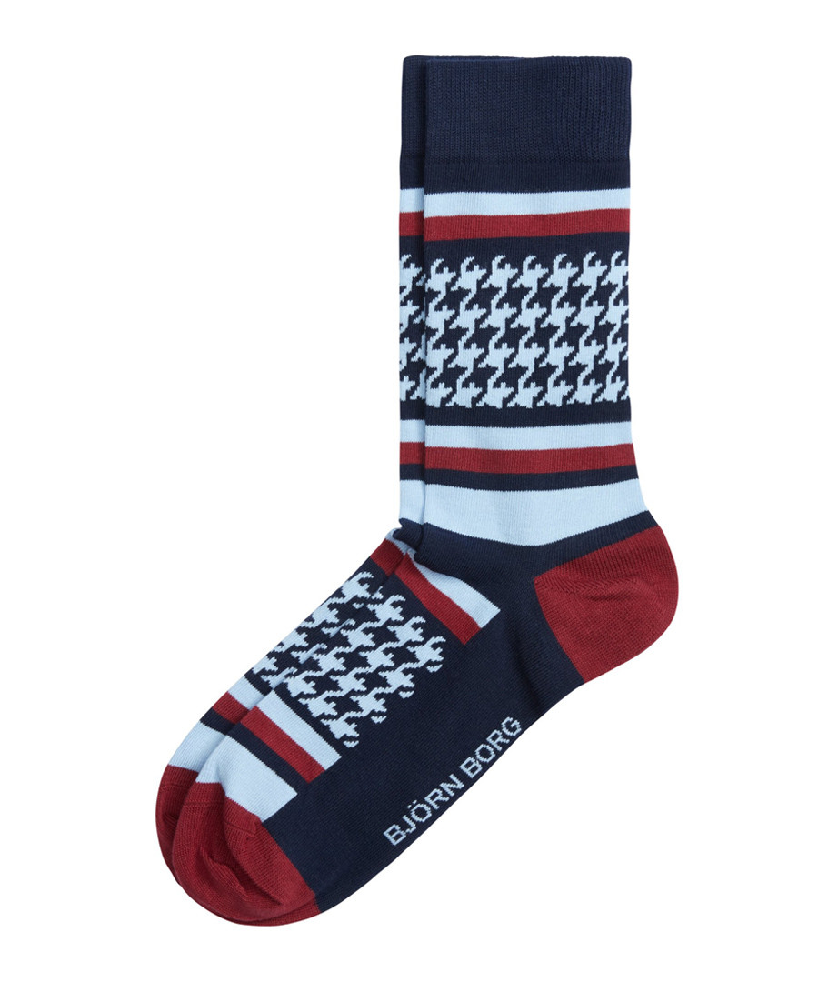 Blue & burgundy print socks Sale - Bjorn Borg