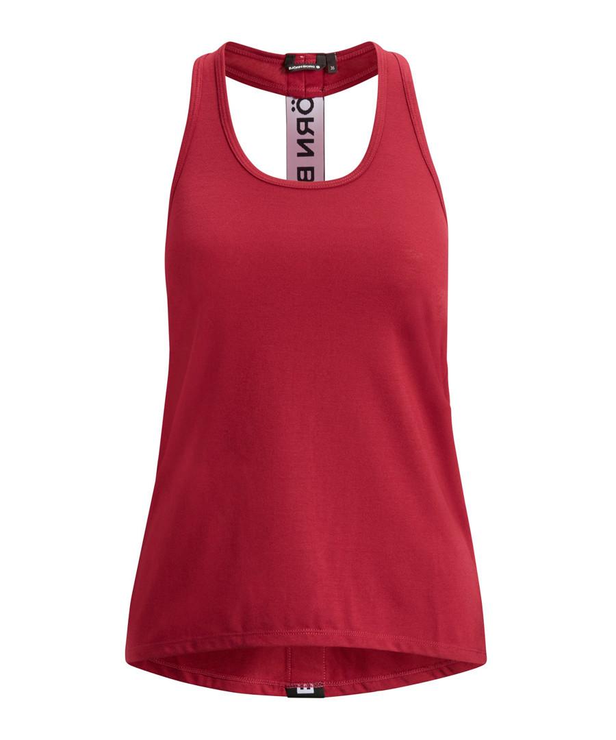 Red logo strip tank top Sale - bjorn borg