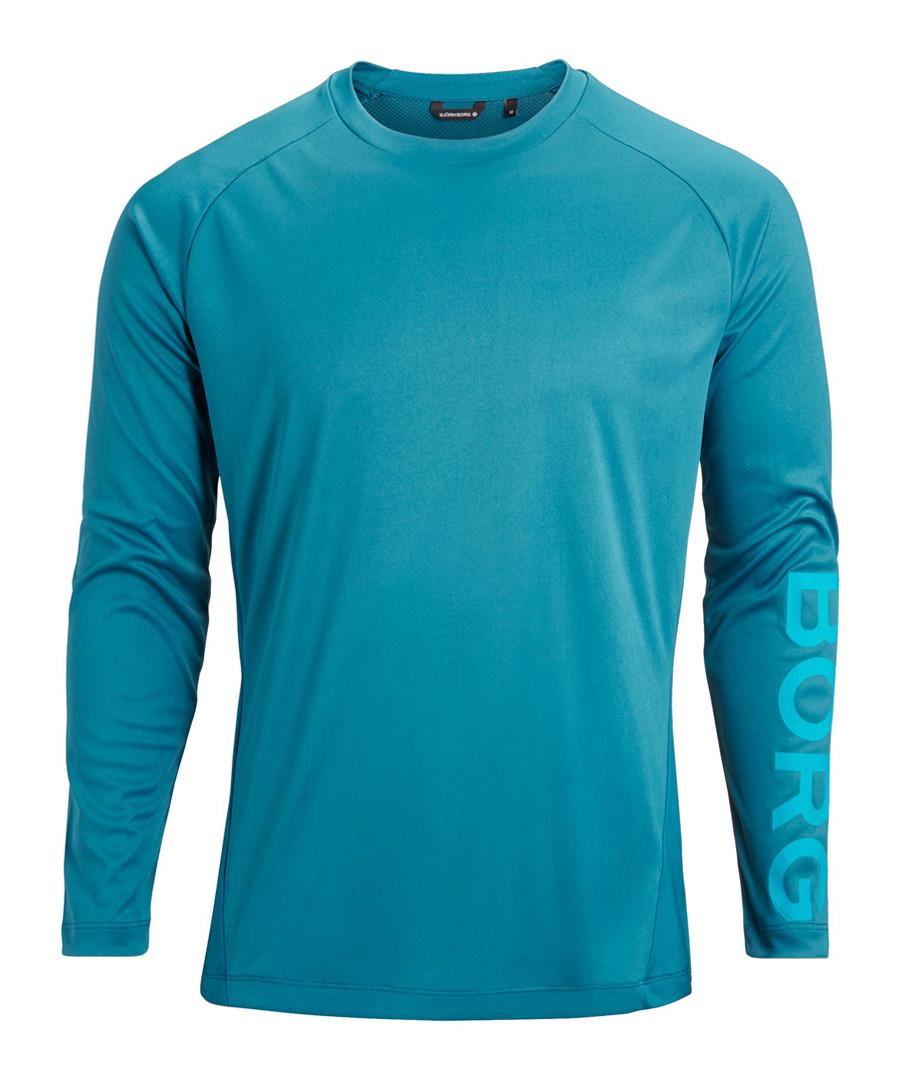 Teal long sleeve logo top Sale - bjorn borg