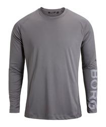 Men's grey long sleeve top