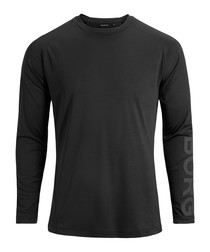 Black long sleeve logo top