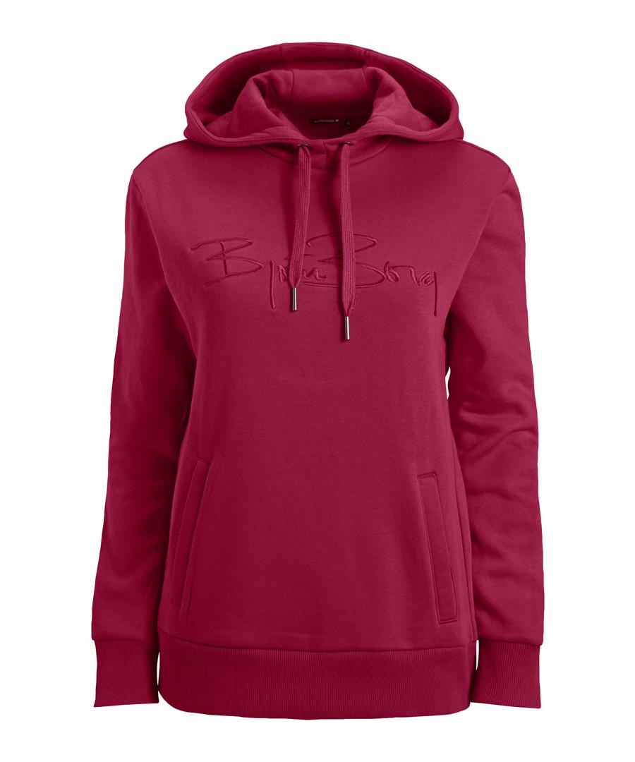 Berry cotton blend hoodie Sale - bjorn borg