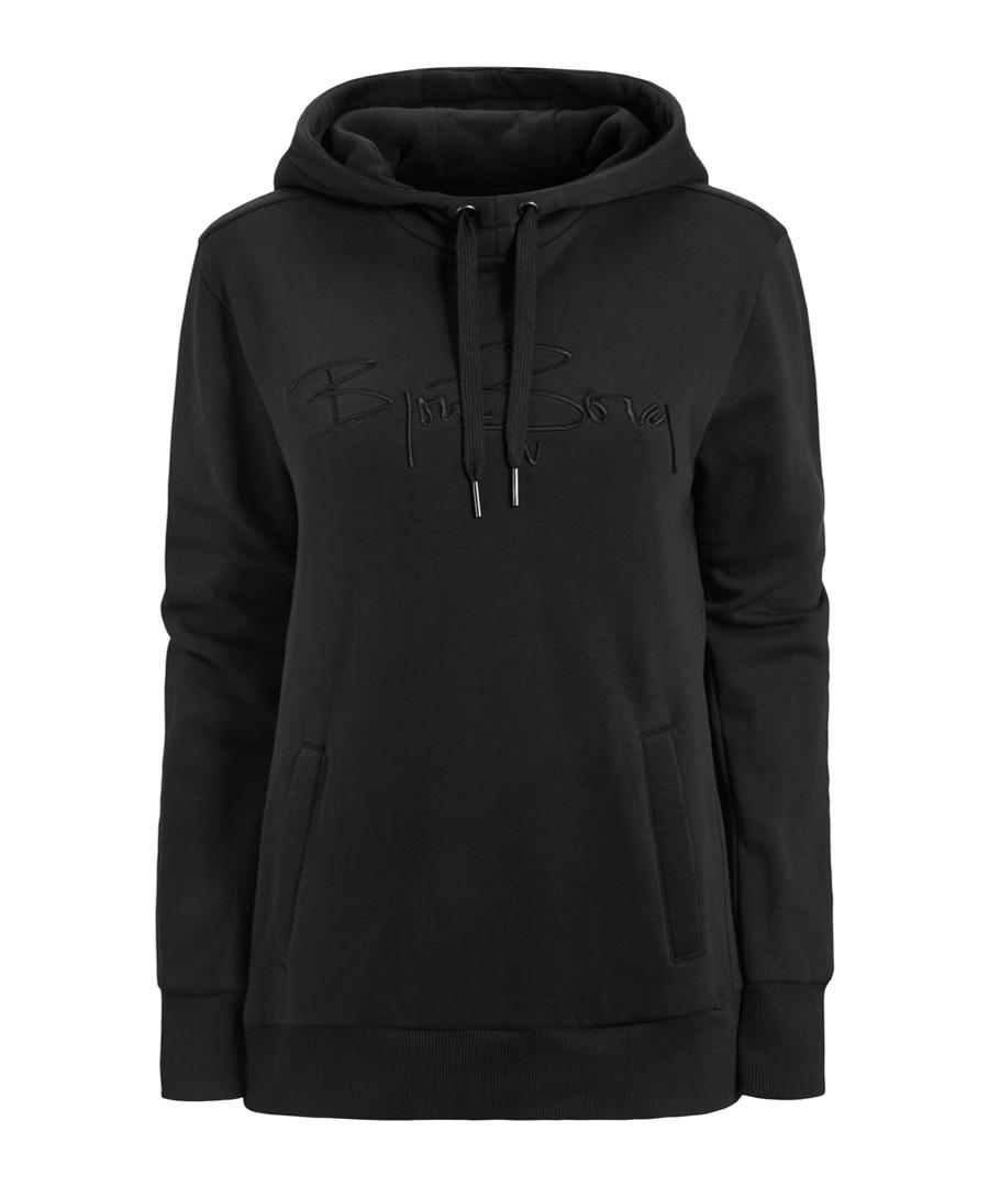 Black cotton blend hoodie Sale - bjorn borg