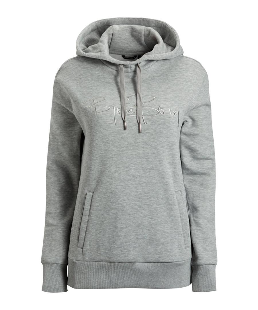 Light grey cotton blend hoodie Sale - bjorn borg