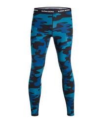 Men's blue camouflage leggings