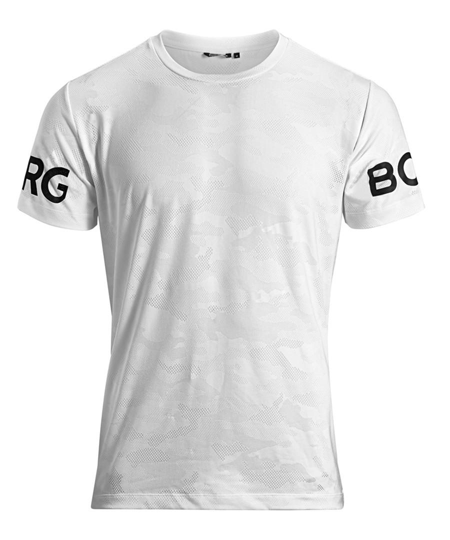 Men's brilliant white logo T-shirt Sale - bjorn borg