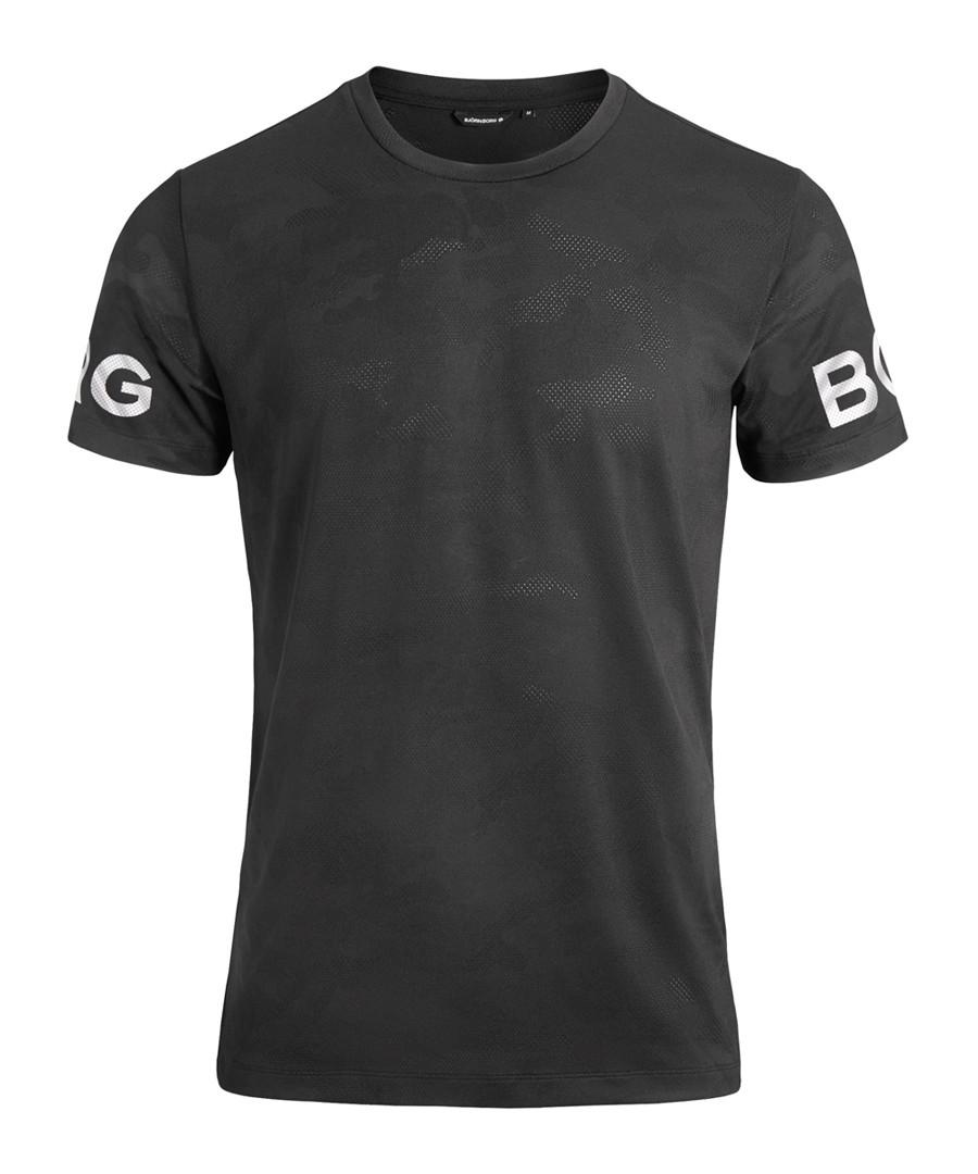 Men's black logo T-shirt Sale - bjorn borg