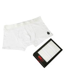 White pure cotton briefs