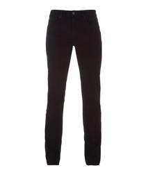 Kane black cotton straight fit jeans