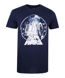 Men's R2 navy pure cotton T-shirt