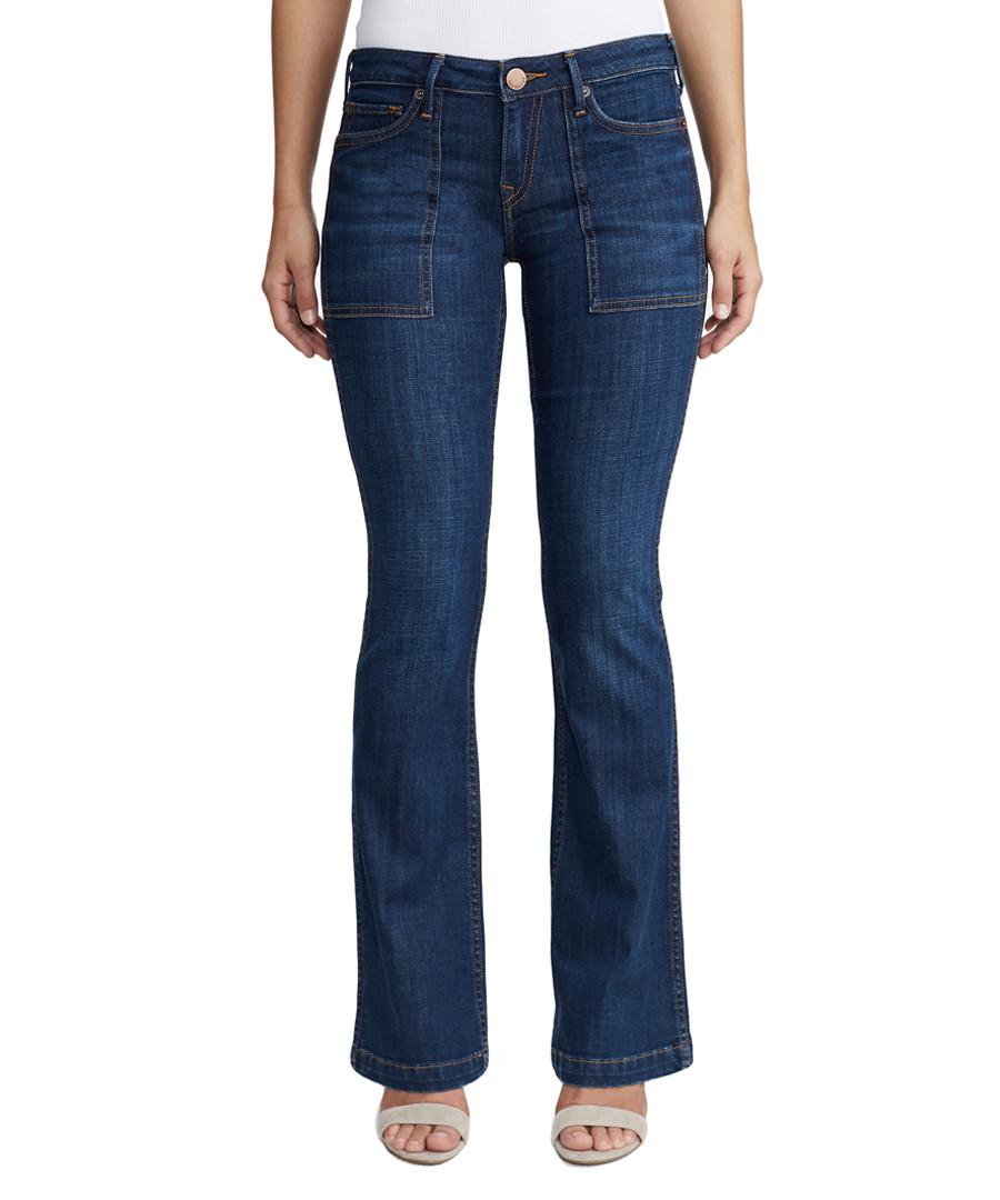 nikki utility cotton flare jeans Sale - true religion