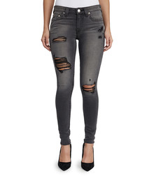 curvy cotton blend skinny jeans