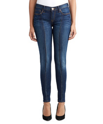 halle cotton blend seam skinny jeans