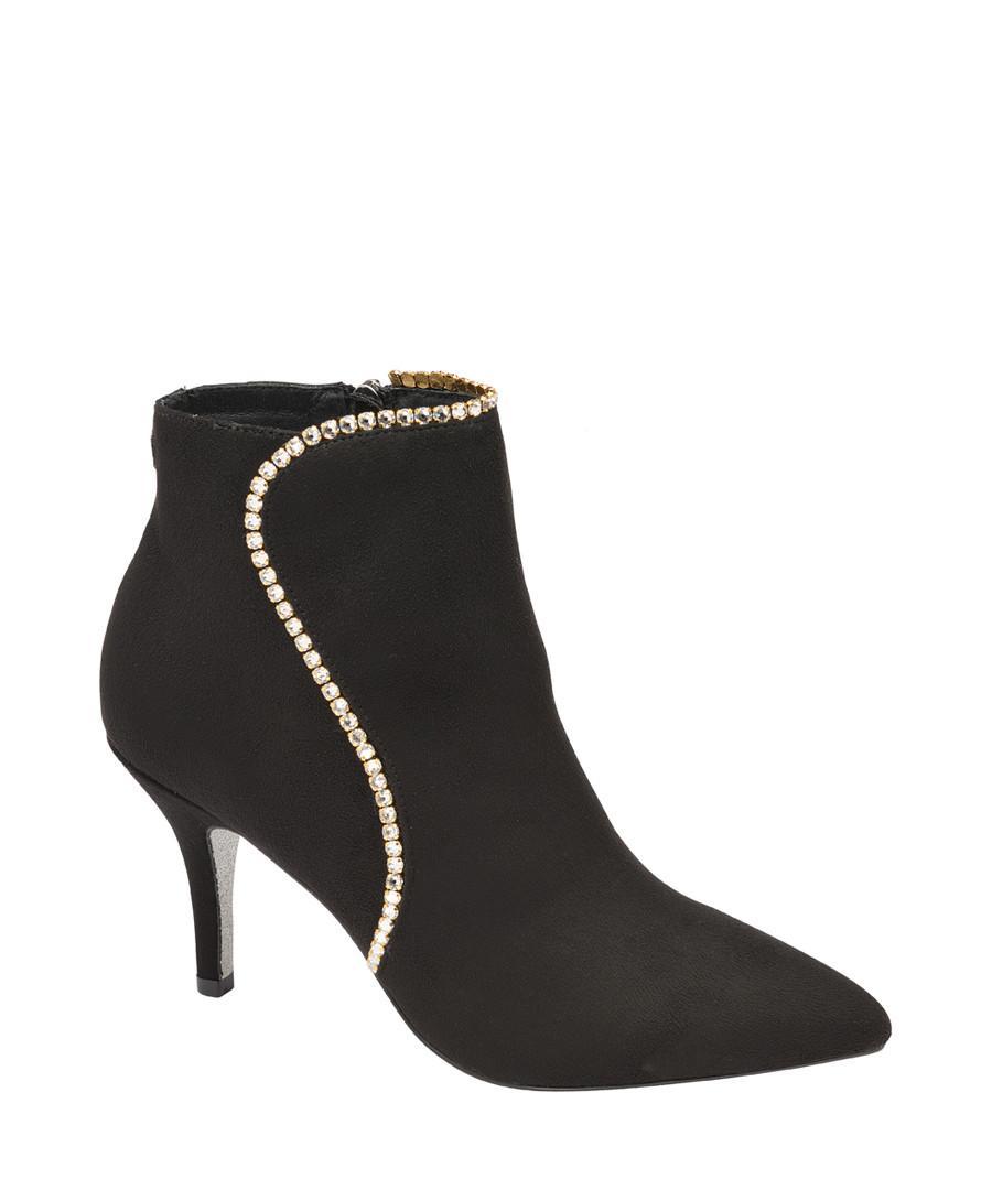 Black Swarovski crystal ankle boots Sale - ravel