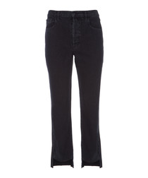 Wynne high-rise crop straight jeans
