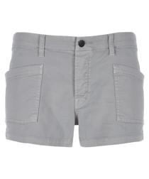 Brona slate mid-rise cargo shorts