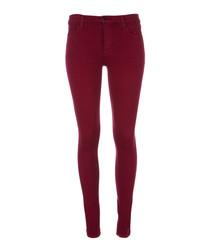 620 deep plum mid-rise skinny jeans