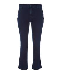 Zion invoke crop bootleg jeans