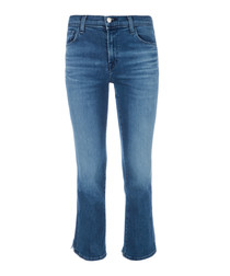 Selena indy mid-rise crop bootleg jeans