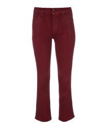 Selena mid-rise crop bootleg jeans