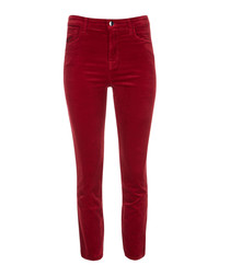 Ruby cherry cigarette crop jeans