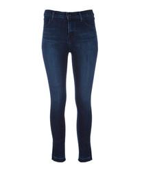 Alana dark high-rise crop skinny jeans
