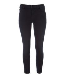 835 black mid-rise crop skinny jeans